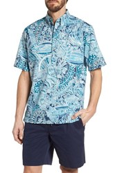 Reyn Spooner Deep Water Classic Fit Polo Navy