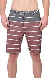 Imperial Motion Men's Big And Tall Hewitt Hybrid Board Shorts Burgundy