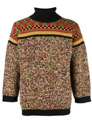 Jean Paul Gaultier Vintage Mixed Pattern Jumper Multicolour