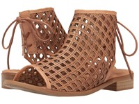 Coolway Aimy Cognac Oiled Suede Women's Sandals Brown