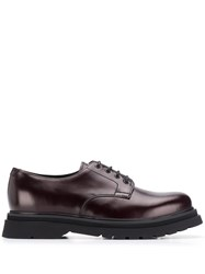 Prada Lace Up Brogues Purple