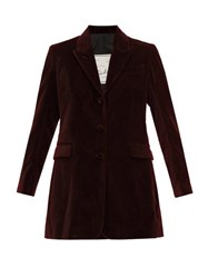 Giuliva Heritage Collection The Karen Tailored Cotton Velvet Blazer Burgundy