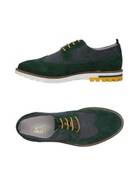 Snobs Footwear Lace Up Shoes Dark Green