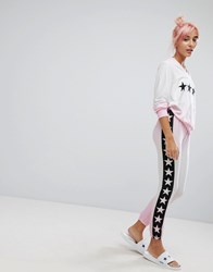 Wildfox Couture Star Print Sublimation Lounge Jogger Multi