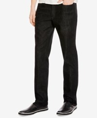 Kenneth Cole New York Men's Stretch Black Wash Skinny Jeans