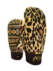 Level Bliss Siberian Leopard Print Ski Mittens