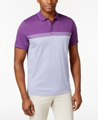 Alfani Men's Cavalry Colorblocked Polo Only At Macy's Majesty