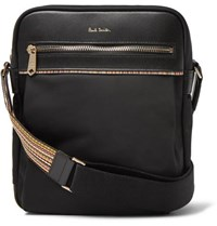 Paul Smith Webbing And Leather Trimmed Shell Messenger Bag Black