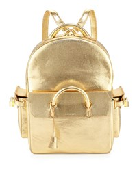 Buscemi Phd Shiny Leather Backpack Gold