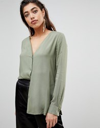 Ivyrevel Blouse With Button Front Green