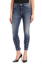 Mavi Jeans Women's Tess Super Skinny Shaded Eyelet
