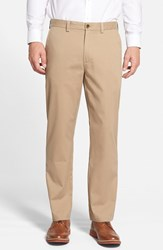 Men's Big And Tall Nordstrom Wrinkle Free Straight Leg Chinos Dark Khaki