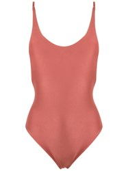 Haight Round Neck Swimsuit Brown