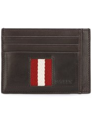 Bally Stripe Detail Wallet Brown