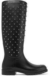 Saint Laurent Festival 25 Embellished Rubber Rain Boots Black