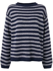 Sofie D'hoore Striped Cashmere Sweater Blue