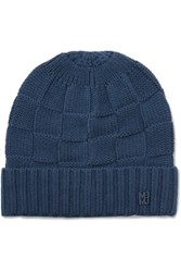 Marc By Marc Jacobs Basketwave Merino Wool Beanie Navy