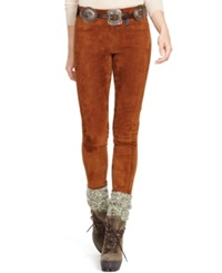 Polo Ralph Lauren Stretch Suede Skinny Pants