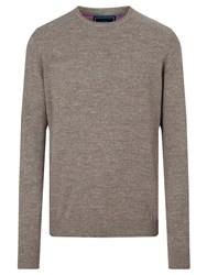John Lewis Budding Cotton Crew Neck Jumper Charcoal