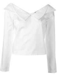 Opening Ceremony V Neck Blouse White