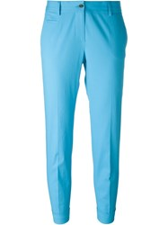 Alberto Biani Cropped Tailored Trousers Blue