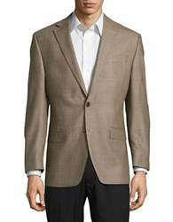 Lauren Ralph Lauren Silk And Wool Blend Jacket Light Brown