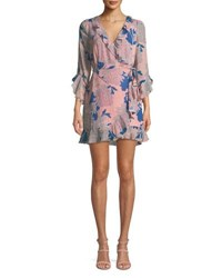 Red Carter Tessa Floral Print Wrap Dress Multi