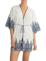 In Bloom Loving Hands Cotton Wrap Ivory Navy