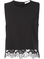 A.L.C. Lace Hem Tank Top Black