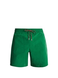 Stella Mccartney Contrast Tie Straight Leg Swim Shorts Green