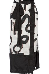 Proenza Schouler Printed Cotton And Silk Blend Pareo