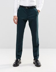 Selected Homme Suit Trouser In Slim Fit With Stretch Bottle Green