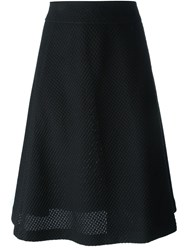 Odeeh Mesh Layer Skirt Black