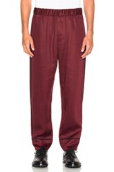 3.1 Phillip Lim Cropped Pajama Trousers In Red