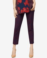 A Pea In The Pod Maternity Jacquard Ankle Pants Print