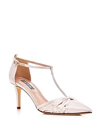 Sarah Jessica Parker Sjp By Carrie T Strap Pointed Toe Pumps Pink