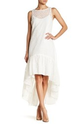 Erin Fetherston Trianon Embroidered Hi Lo Maxi Dress White