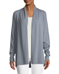 Lafayette 148 New York Cashmere Swing Cardigan Vision Blue
