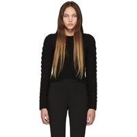 Alexander Mcqueen Black Knit Crewneck Sweater