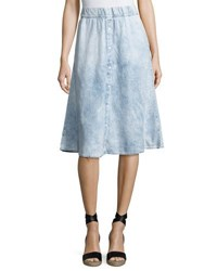 Cheap Monday Scaler Denim Style A Line Skirt Light Blue