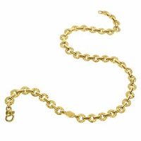 Torrini Etrusca 18K Yellow Gold Small Chiselled Chain