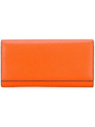 Valextra Billfold Wallet Yellow Orange