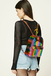 Forever 21 Sheeny Rainbow Backpack Blue Multi