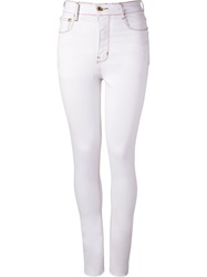 Amapo High Waist Skinny Trousers White