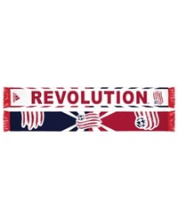 Adidas New England Revolution Jacquard Wordmark Scarf Red Navy White