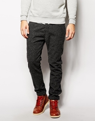 United Colors Of Benetton Neppy Trousers In Straight Fit Black