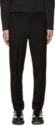 Comme Des Garcons Black Wool Cuffed Trousers