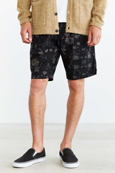 Your Neighbors Floral Print Linen Short Black Multi