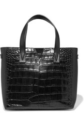 Vince Croc Effect And Smooth Leather Tote Black