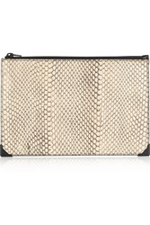 Alexander Wang Prisma Elaphe And Leather Clutch Animal Print